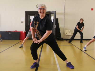 Photo for the news post: Senior Ravens thriving in online fitness world