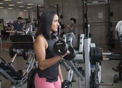 Carleton University Personal Training Lifting Weights At The Fitness Centre