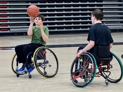 Photo for the news post: Junior Ravens Wheelchair Basketball