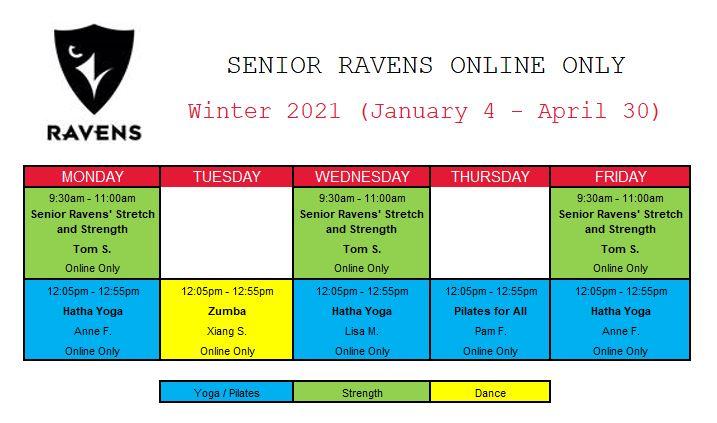 Senior Ravens Schedule