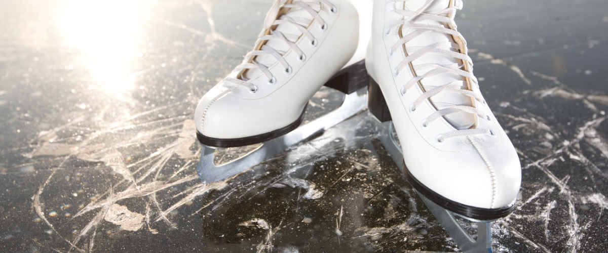 A pair of figure skates
